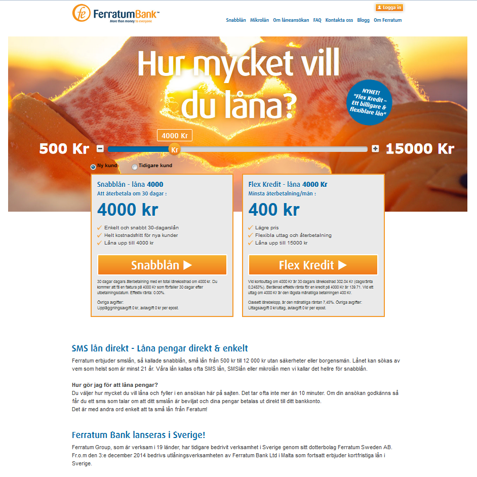 Ferratum bank lån
